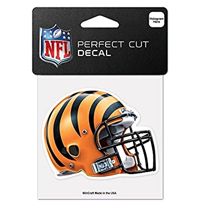 "Cincinnati Bengals Perfect Cut Color Helmet Decal 4"" X 4"" New Wall Decal NFL"