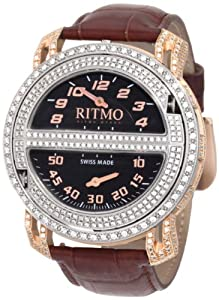 Ritmo Mundo Men's D201/1 SS RG Diamond Persepolis Triple-Time Orbital Case Quartz Watch