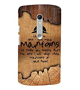 Love Quote 3D Hard Polycarbonate Designer Back Case Cover for Motoroal Moto X Play