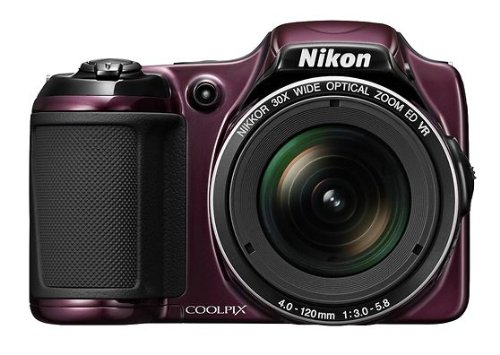 Nikon Coolpix L820 Digital Camera (Plum) includes Full 1 Year Warranty Discount
