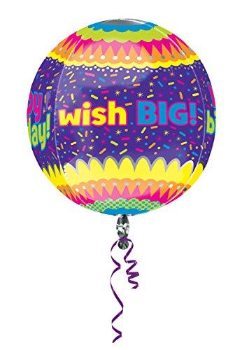 "Anagram International Happy Birthday Confetti Orbz Balloon, 16"", Multicolor"