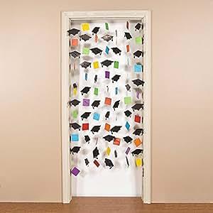 Mortarboard door curtain party decorations for Nursing home door decorations