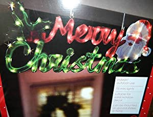 Large lighted hanging merry christmas sign for Large outdoor christmas signs