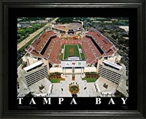 Tampa Bay Buccaneers - Raymond James Stadium Aerial - Lg - Framed Poster Print by Laminated Visuals
