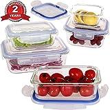 Vhari-Lot-de-5-botes-de-rangement-alimentaire-en-verre-borosilicate-5-couvercles-plastiques-sans-BPA-tanches-et-antifuites-Adaptes-au-four-au-micro-ondes-au-conglateur-et-au-lave-vaisselle