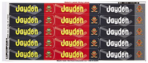 Mabel'S Labels 40845058 Peel And Stick Personalized Labels With The Name Jayden And Hockey Icon, 45-Count front-1029019
