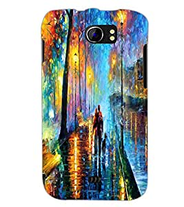 PrintDhaba Abstract Art D-1149 Back Case Cover for MICROMAX A110Q CANVAS 2 PLUS (Multi-Coloured)