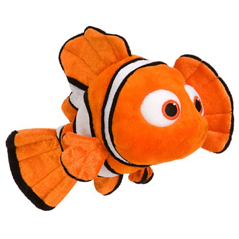 "Disney Nemo Mini Bean Bag Plush - Small - 9"" - 1"