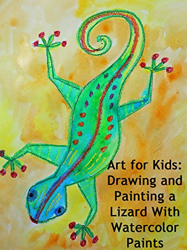 Art for Kids: Drawing and Painting a Lizard With Watercolor Paints
