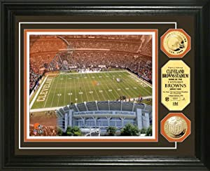 NFL Cleveland Browns Stadium Gold Coin Photo Mint by Highland Mint