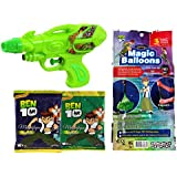 Ben 10 Holi Water Gun Pichkari Ben10 Licenced Product With 111 Magic Balloon And 2 Ben 10 Gulal