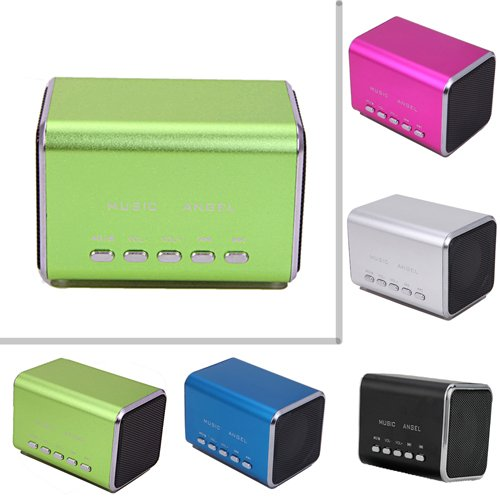 Hde Music Angel Rechargeable Mini Party Travel Speaker With Micro Sd Slot (Green)