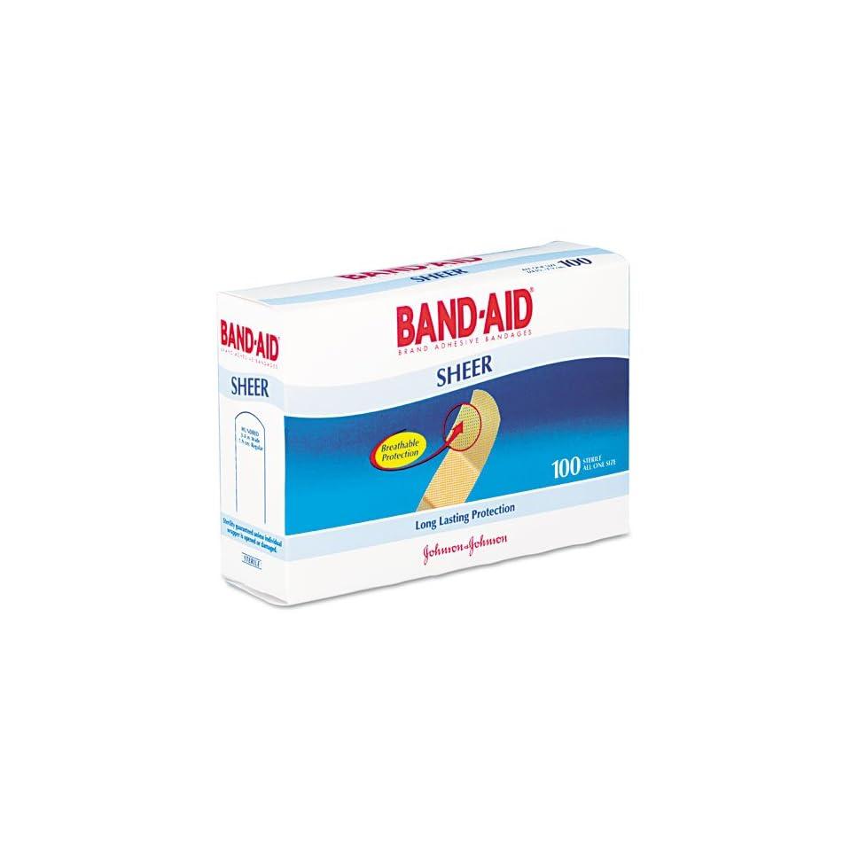 BAND AID Products   BAND AID   Sheer Adhesive Bandages, 3