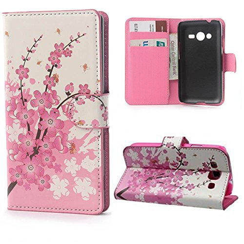 Ace 4 Lite,Ace 4 Lite Case,Ace 4 Lite Cover,Ezydigital Carryberry Fashion Elegance Magnetic Snap Wallet Card Flip Synthetic Leather Stand With TPU Case Cover Skin For Samsung Galaxy Ace 4 Lite G313/Ace NXT SM-G313H (Samsung Ace 4 Lite G313 compare prices)
