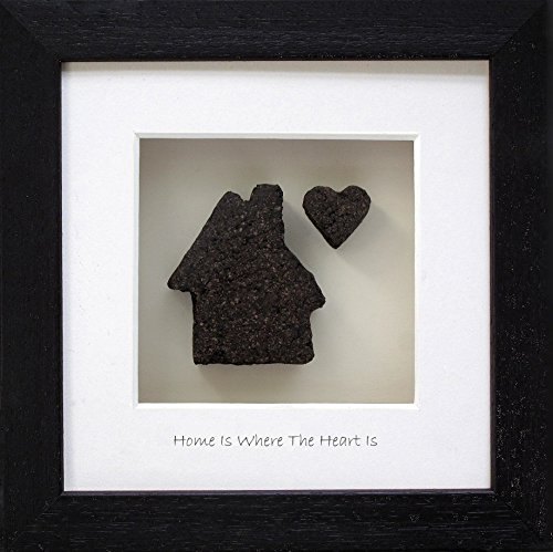 'Home Is Where The Heart Is' Picture, Made in Ireland from 10,000 year old Irish Bog/Peat