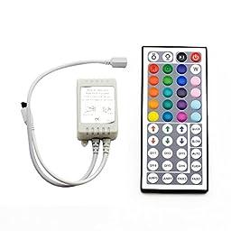 SUPERNIGHT 44Keys Remote Controller for DC24V 10Meters 5050 RGB LED Strip Light
