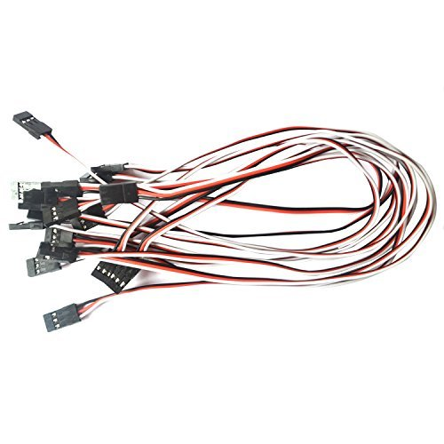 VIMVIP 10pcs 300mm Male to Male Servo Extension Cable Lead Futaba JR Fre