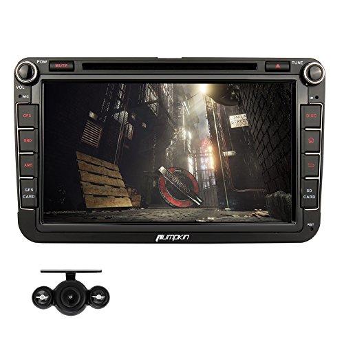 PUMPKIN-8-Zoll-2-Din-Android-51-Lollipop-Quad-Core-Autoradio-Moniceiver-DVD-Player-fr-Golf-Jetta-Polo-Untersttzt-GPS-Navigation-DAB-Bluetooth-OBD2-Wifi-Lenkradfernbedienung-mit-Rckfahrkamera-usw