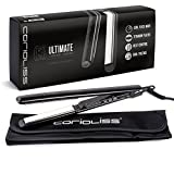 Corioliss C3 Ultimate Titanium Hair Styling Iron, Black , Professional Hair Straightener, Curl, Flick, Negative Ion Hair Care, Anti-Static Anti-Frizz, Travel pouch included 2 Year Warranty