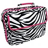 Zebra Hot Pink Laptop Bag Case 17""