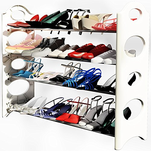 2 xLast Day Liquidation Sale - Shoe Rack Organizer -Store up to 20 Pairs in Your Closet Cabinet or Entryway - Easy to Assemble - No Tools Required
