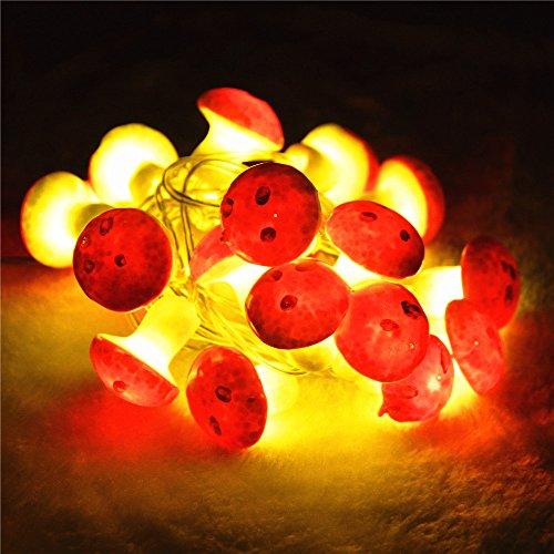 INST 20 Mushroom LED String Lights, Total 7 ft