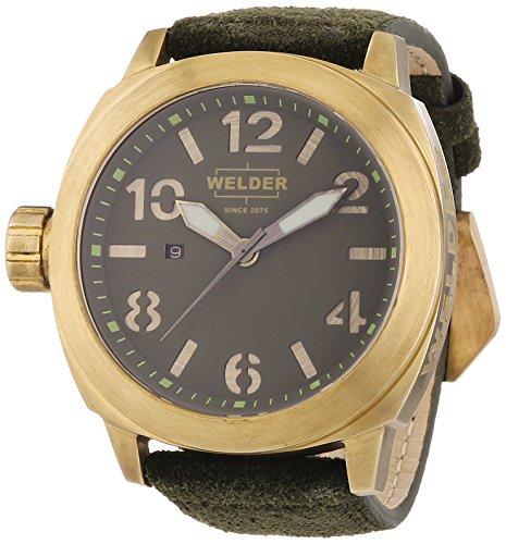 Welder - K51 9101 - Montre Mixte - Quartz - Analogique - Bracelet Cuir Vert