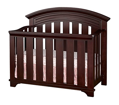 Westwood Design Geneva 4 in 1 Convertible Crib, Chocolate Mist