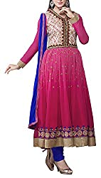 Fashions World Women's Net Unstitched Dress Materials