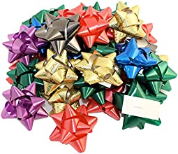 Pack of 36 Self Adhesive Gift Bows in Assorted Colors Peel N Stick Gift Bows