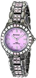 Armitron Women's 75/3689PMDG Pink Swarovski Crystal Accented Gunmetal Bracelet Watch
