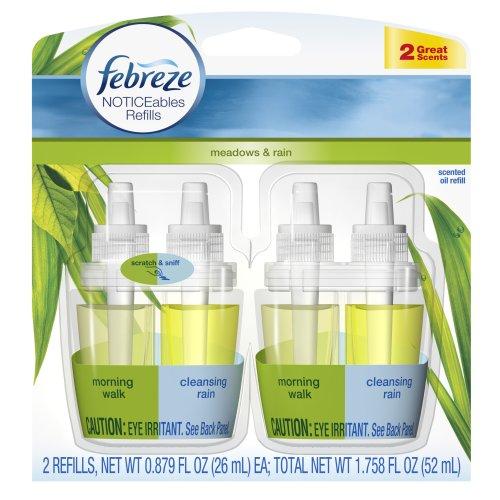 Febreze Noticeables Meadows & Rain Air Freshener Refill (2 Count; .879 Fl Oz Each), 1.758 Ounce front-185007