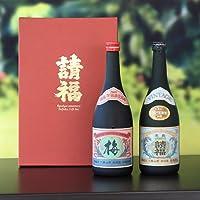 請福梅酒&琉球泡盛請福ビンテージ30度 2本ギフト飲み比べセット
