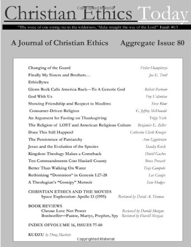 Christian Ethics Today, Issue 80