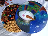Cheerful Holiday Snowman with Cashews and Our Raisin M&M Nut Mix -- a Christmas Gift Tin by Nut Roasters Reserve