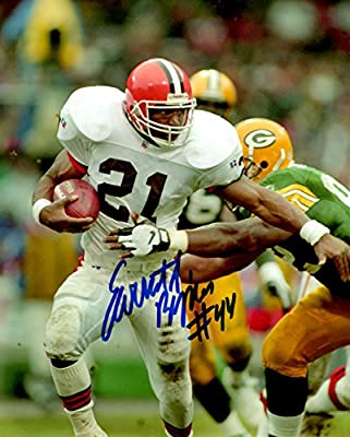 Autographed Earnest Byner 8x10 Cleveland Browns Photo.
