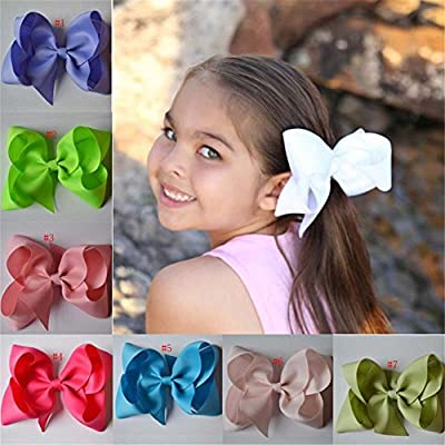 Bzybel Boutique Large Big Huge Hair Bow Clips Grosgrain Ribbon Barrettes Headbands Party Oversize Hair Clips for Young Girls Teens young Women
