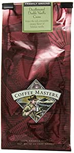 Coffee Masters Flavored Coffee, Double Vanilla Creme Decaffeinated, Ground, 12-Ounce Bags (Pack of 4)