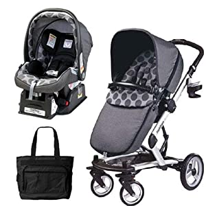 peg perego 2011 skate stroller pram system with car seats and fashionable diaper. Black Bedroom Furniture Sets. Home Design Ideas