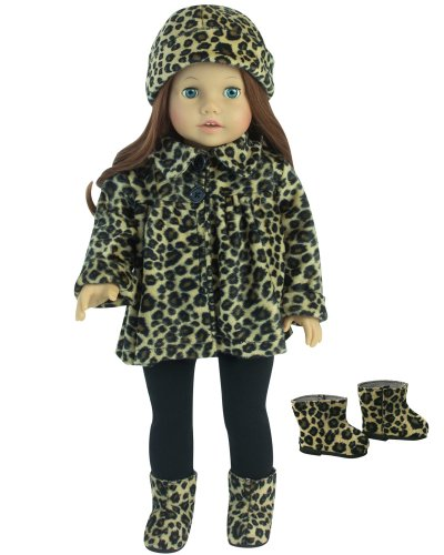 gotz  winter coat	boots, doll