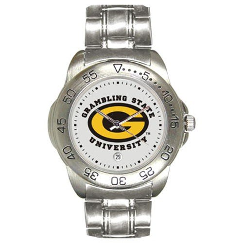 Grambling Tigers Men&#8217;s Gameday Sport Watch w/Stainless Steel Band