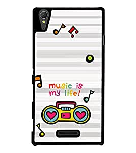 Music is My Life Back Case Cover for SONY XPERIA T3