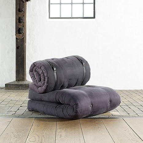 Futon Sessel in Grau, Maße B/H/T ca. 70/24-68/95-200 cm