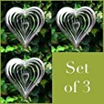 Set Of Three Heart Shaped Steel Winds...