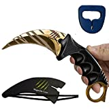KARAMBIT CSGO Knife Skins By Magnolia Gear | Tactical Knife | Neck Knife Easy To Carry with Rope, Sheath and Sharpener | Perfect for Hunting Fishing Camping Survival | Personal Self Defense Tiger