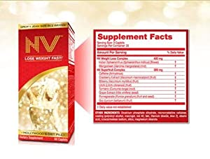 Nv Hollywoods Diet Pill - Lose Weight Fast - 60 Caplets from Wellnx