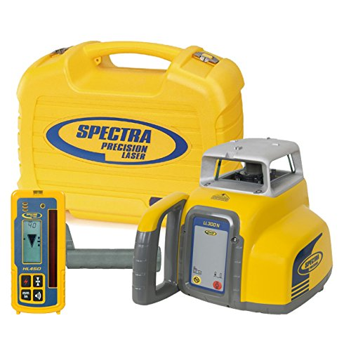 spectra-precision-laser-ll300n-automatic-self-leveling-level-w-hl450-receiver-alkaline-batteries