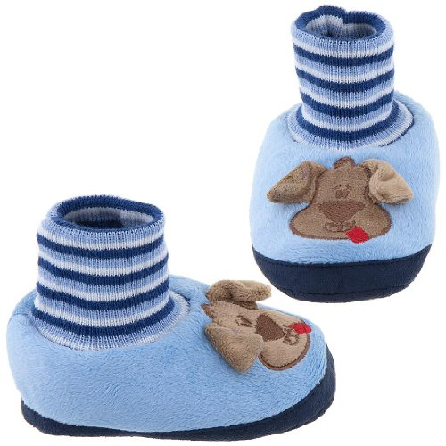 Cheap Blue Dog Sock Top Slippers for Toddlers (B009TH3PRU)