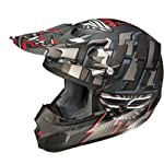 Fly Racing Kinetic Dash Adult Off-Road/Dirt Bike Motorcycle Helmet - Matte Black/Silver / X-Large