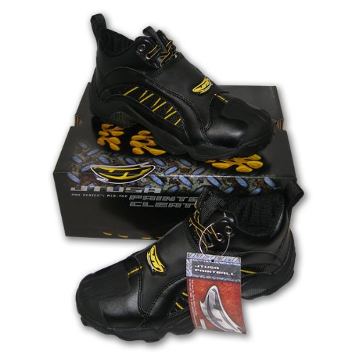 Black JT Pro Series 3/4 Mid-Top Paintball Airsoft Cleats Shoes Mens US #8 Europe 40.5 UK 7
